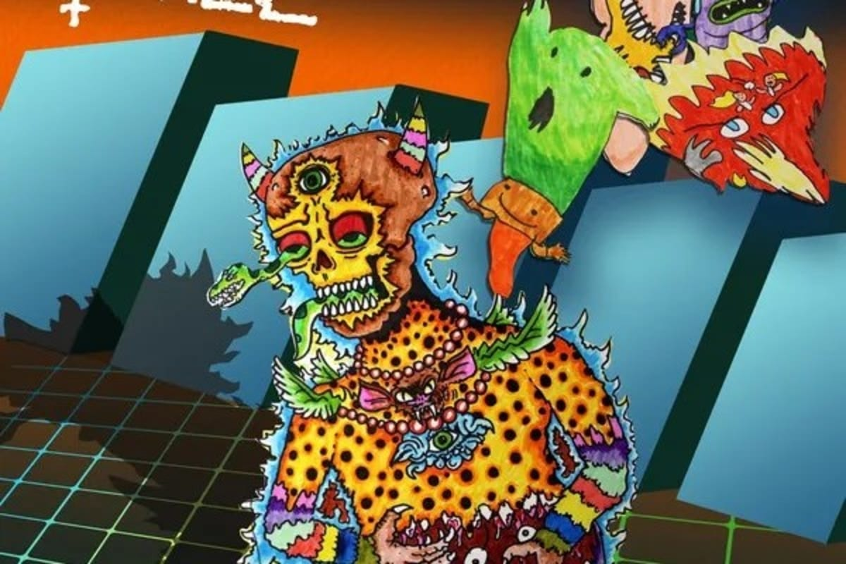 """of Montreal """"I feel safe with you trash' psychedelic album cover"""