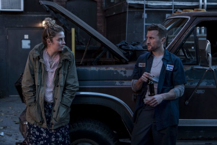 Allison chats with Marcus (the cat-calling mechanic)