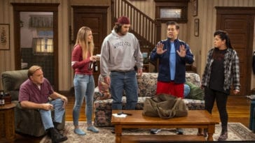 Kevin announces his plan to Neil, Patty, Allison, and Brian in their sitcom living room.