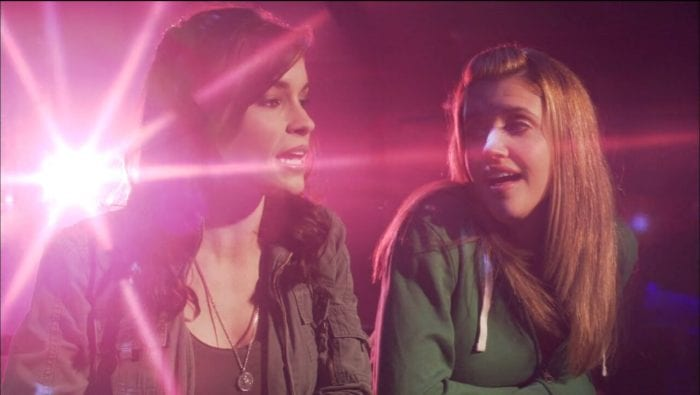 Misty (Mandy Musgrave) and Colby (Gabrielle Christian) sing about their fantasy crushes.