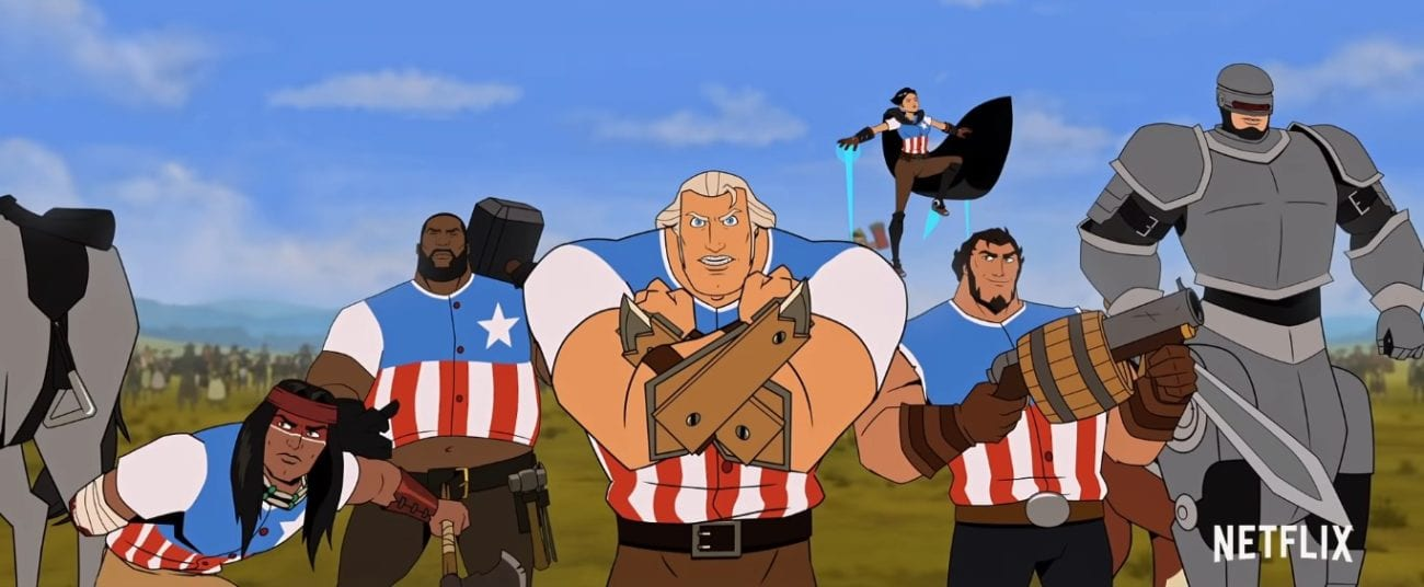 George Washington and his rebels getting ready for battle