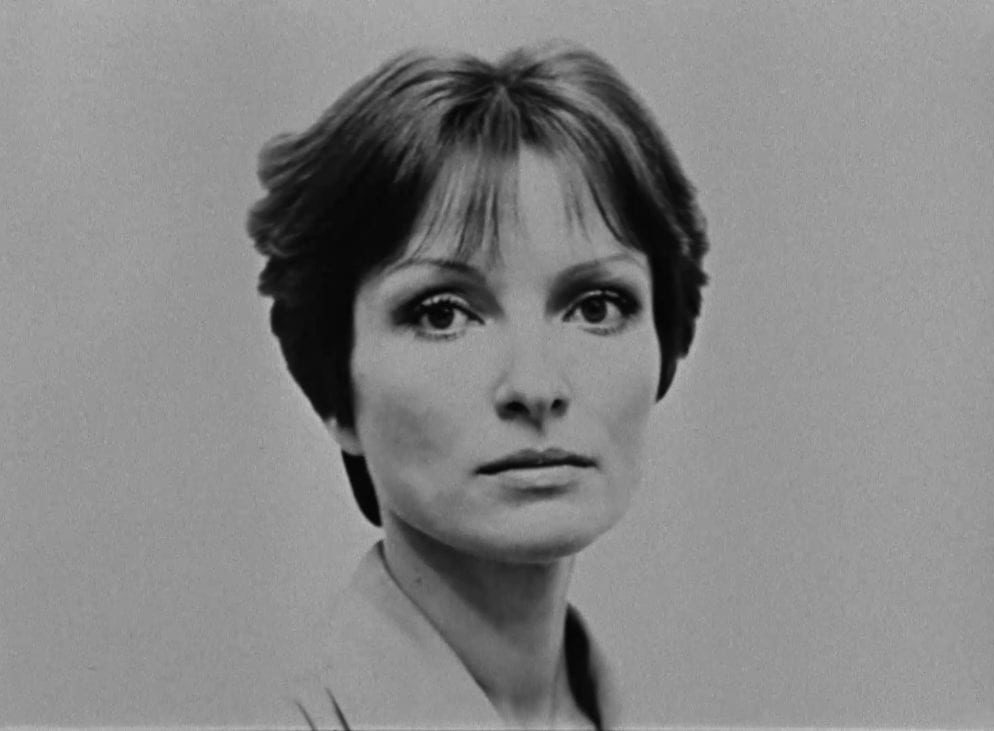 A portrait of Larisa Shepitko, director of The Ascent, gazing at the camera.