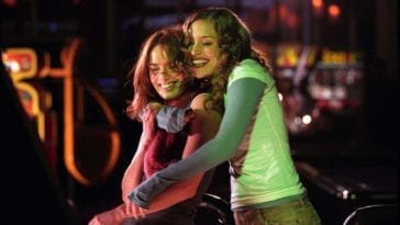 """Luce (Lena Headey) and Rachel (Piper Parebo) have a dance off in """"Imagine Me and You""""."""