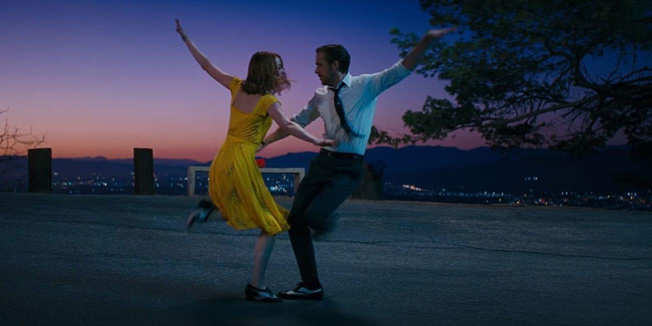 Emma Stone and Ryan Gosling dance during an LA sunrise