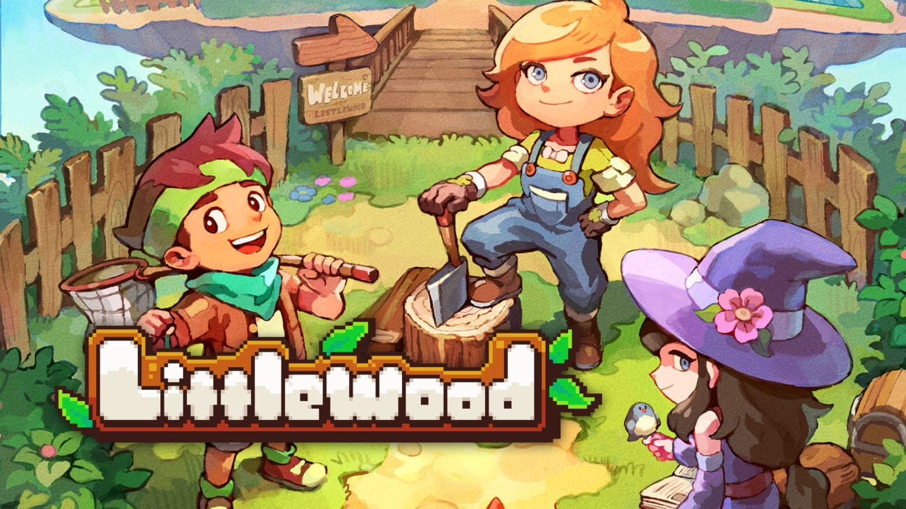 The cover art for Littlewood, featuring several characters smiling and holding items