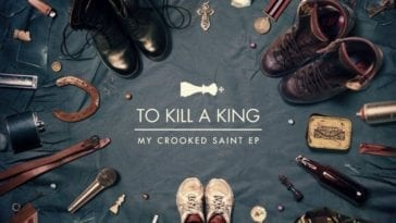 Shoes in a circle on the cover of To Kill a King My Crooked Saint EP