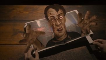 A pop-up book featuring a zombie in Evil S2E5 Z is for Zombie