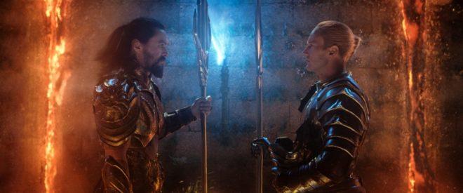 Arthur Curry (Jason Mamoa) prepares for battle against his half-brother Orm (Patrick Wilson) for Atlantian supremacy.