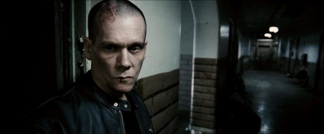 A bald and beaten Nick Hume (Kevin Bacon) is on a vengeful and violent mission to find the men who killed his family.