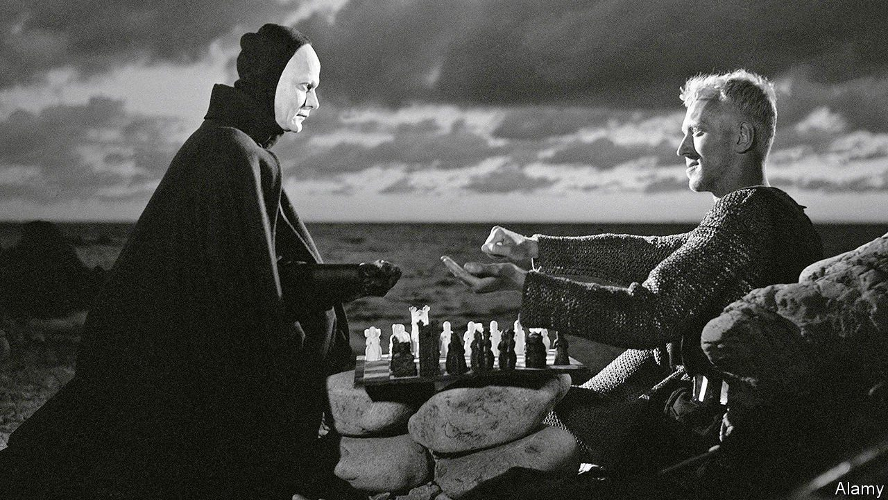 Max von Sydow's Antonius Block plays chess against the personification of Death.