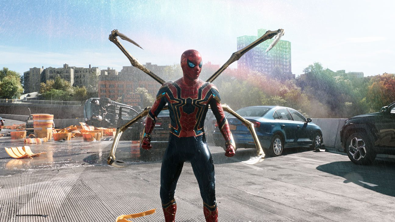 Spider-Man in his armored suit