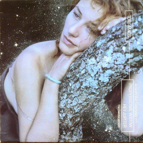"""Tori Amos rests on a tree branch and is surrounded by hundreds of stars on the cover of the """"Hey Jupiter EP."""""""