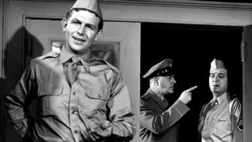 Andy Griffith Stares at the camera