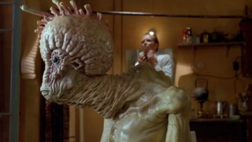 A profile view of Mugwump, the creature from Cronenberg's Naked Lunch.