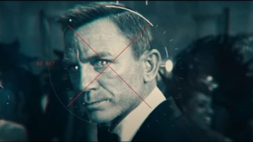 James Bond looks into a computer generated target