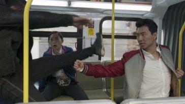 Shaun punches back an attacker.