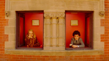 Margot and Chas Tenenbaum look out the window.