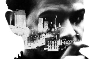 Barry Adamson with a city superimposed on his face on the cover of his memoir