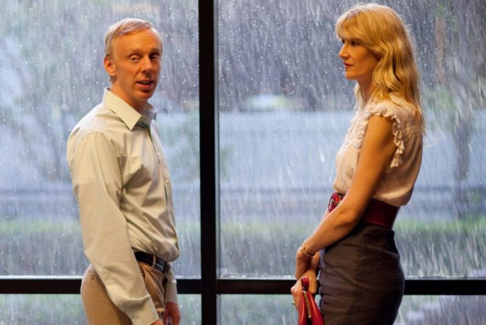 Laura Dern and Mike White chat in HBO's Enlightened