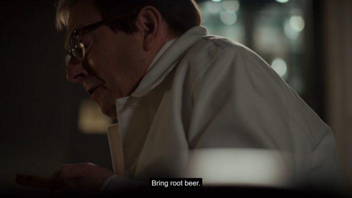 Leland begs for root beer.
