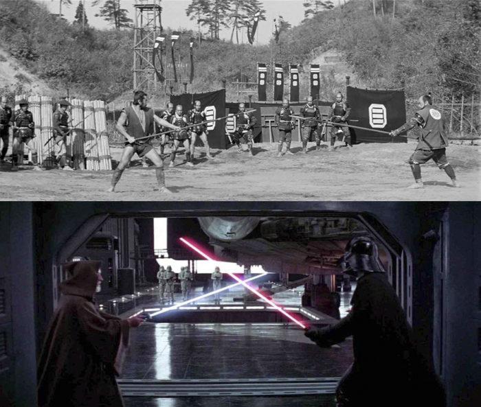 Makabe Rokurōta (top) and Obi Wan Kenobi (bottom) both locked in a fated clash with their respective nemesis.