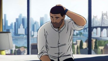 Amir (Amir Nawabi) ruminates on his past and his future in a new york hotel room