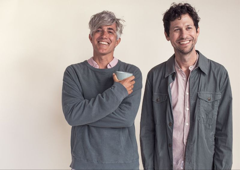 We Are Scientists stand side by side